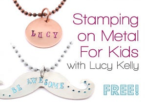 DIY Jewelry: Stamping on Metal for KIDS