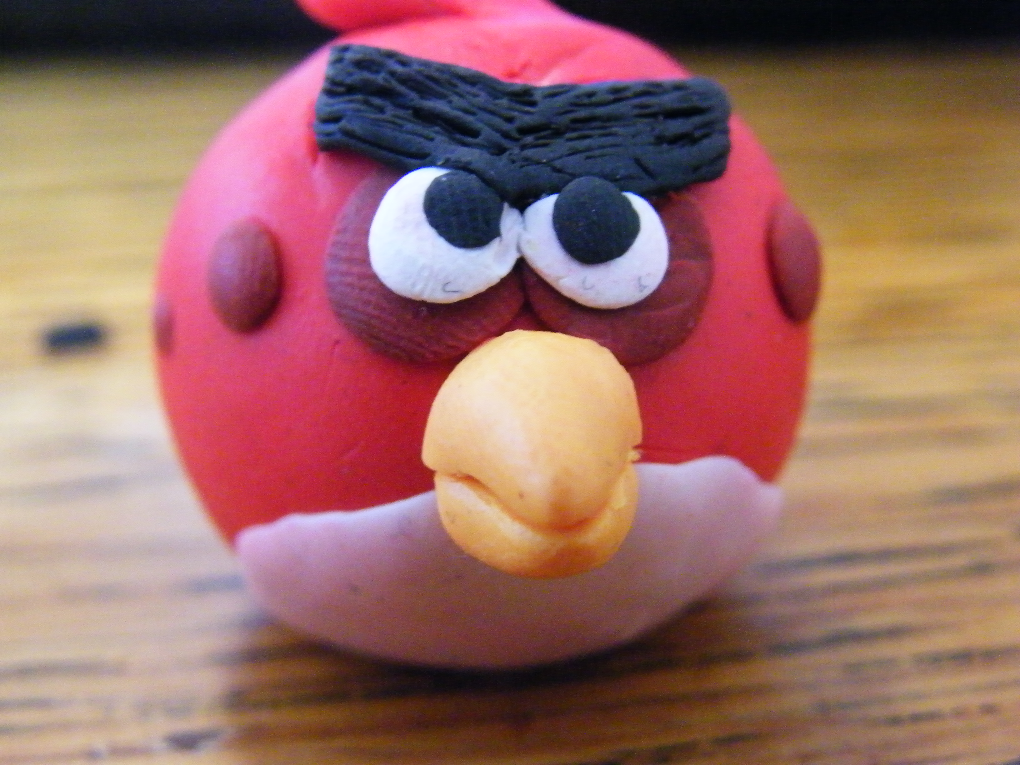 Polymer Clay Red Angry Bird