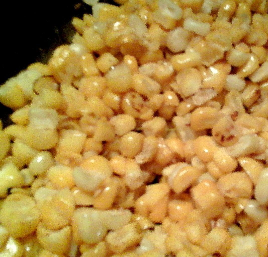 Pan-roasting the Corn
