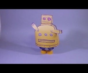 Walking Robot With 3 Servo