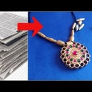 Newspaper Necklace Jewellery