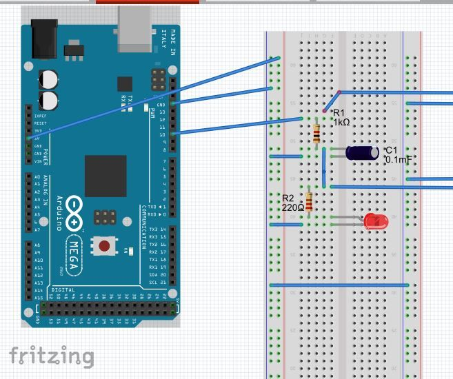 Arduino RC Circuit: PWM to analog DC