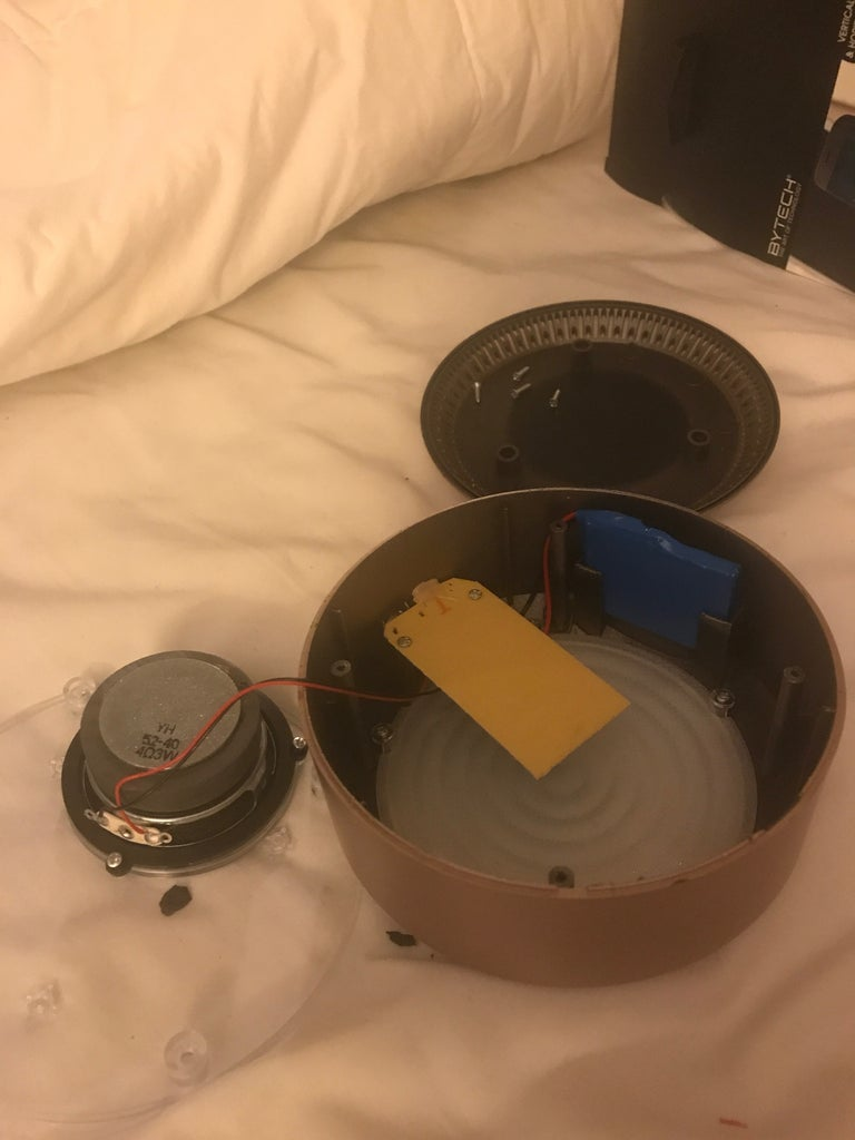 Take Apart the Bluetooth Speaker and Wireless Charger.