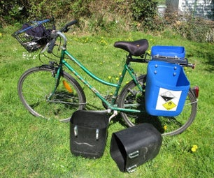 How to Make Quick Bike Bags - Panniers From Used Jerrycans