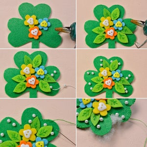 Decorate the Leaf Shaped Brooch