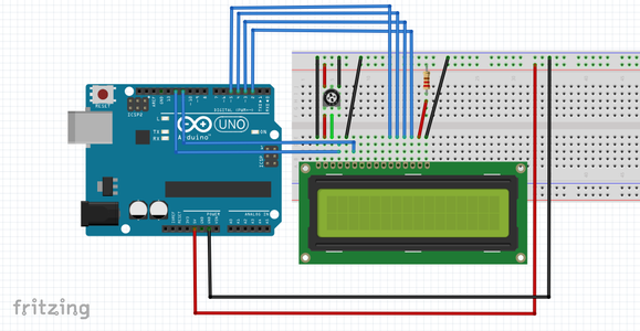 Wiring – Connecting 16×2 Character LCD With Arduino Uno