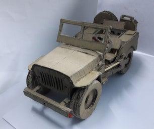 Jeep Willys Mb Cardboard Model