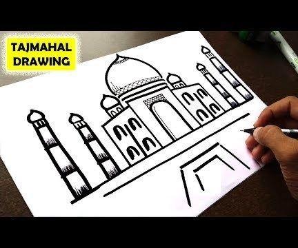 HOW TO DRAW TAJ MAHAL EASY