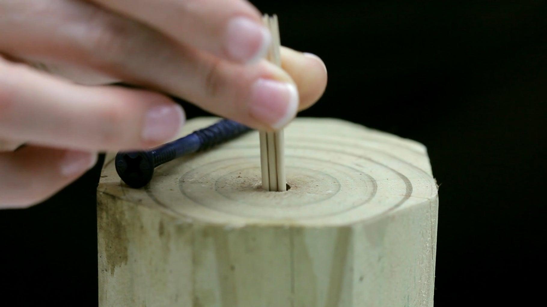 Toothpick Screw Holder