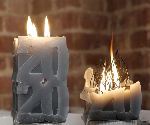 3D印刷蜡烛模具DIY