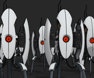 Full Scale Aperture Turret From Portal 2