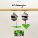 Paper Quilled Earrings | Plants Vs Zombies