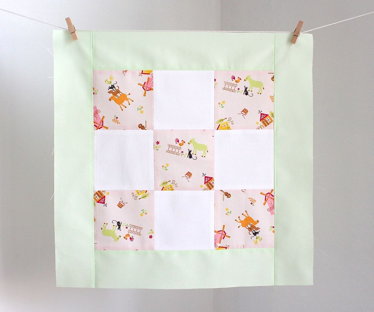 how to add a border to a quilt block