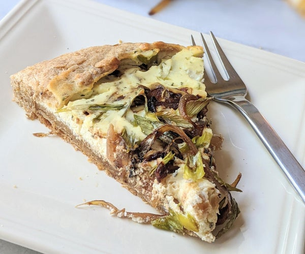 Goat Cheese Caramelized Shallot Galette