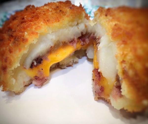 Cheesy, Bacon, Onion, Potato Croquette