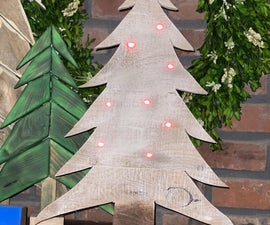 Dollar Store & Pallet Wood Christmas Tree