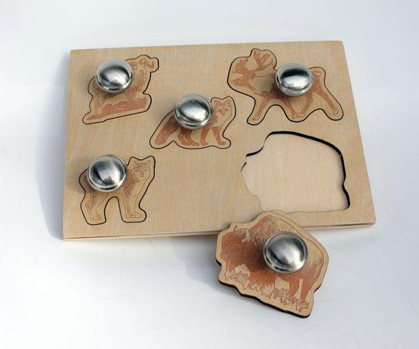 Laser Cut Wood Animals Puzzle