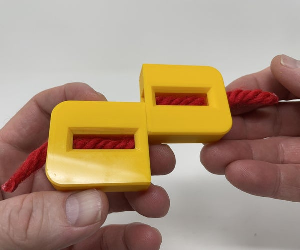 3D Printed Rope Puzzler