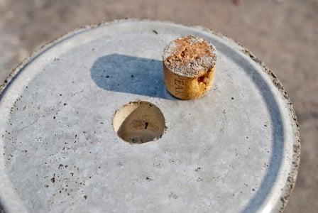 More Advanced: Use a Wine Cork to Cast a Drain Hole