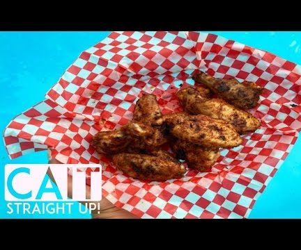 Grilled Wings With Cajun Dry Rub