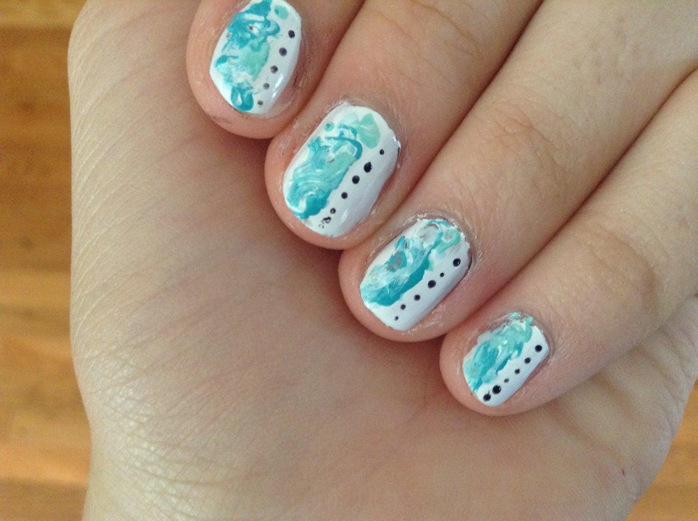 Marble Swirled Nail Art
