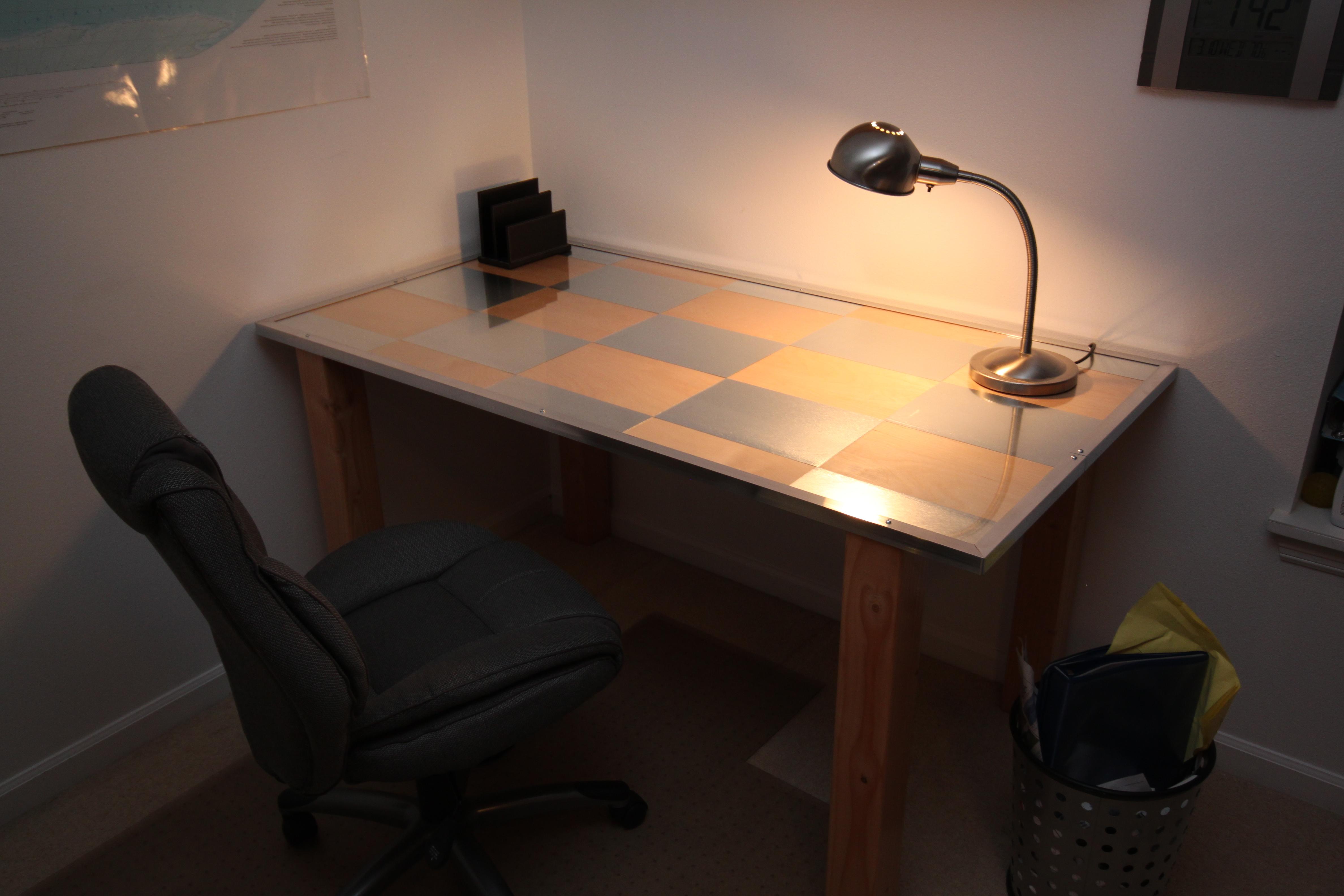 Birch and Aluminum Desk