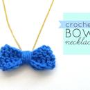 Crochet Bow Necklace Tutorial