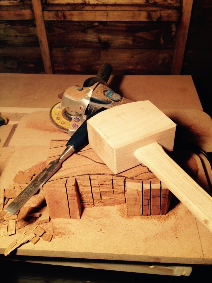 Removing Material With Mallet & Chisel