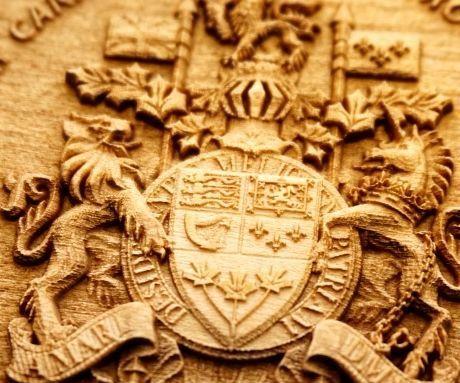 3D Laser Engraved Wooden Crest