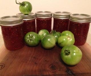绿色番茄覆盆子果酱