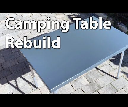 Make a lightweight camping table using recycled hardware!
