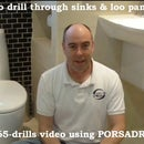 How to drill holes into SINKS or toilets WC loo waste pan urinals white bathroom goods