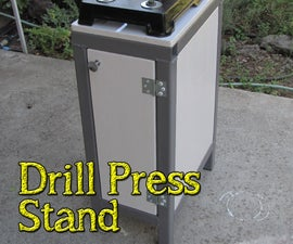 How to Make a Drill Press Stand With Storage Space From Recycled Materials