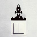 Arte de tablero de interruptor de cohete espacial de bricolaje