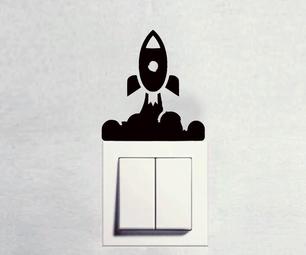 DIY Space Rocket Switch Board Art