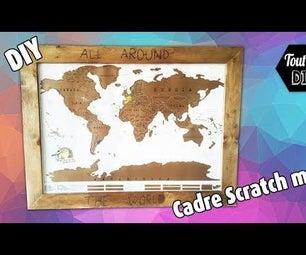 Custom Scratch Map Frame
