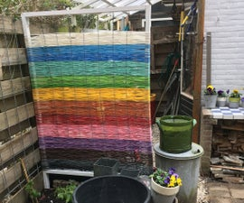 Garden-fence Made of Woven Plastic Cable-tube