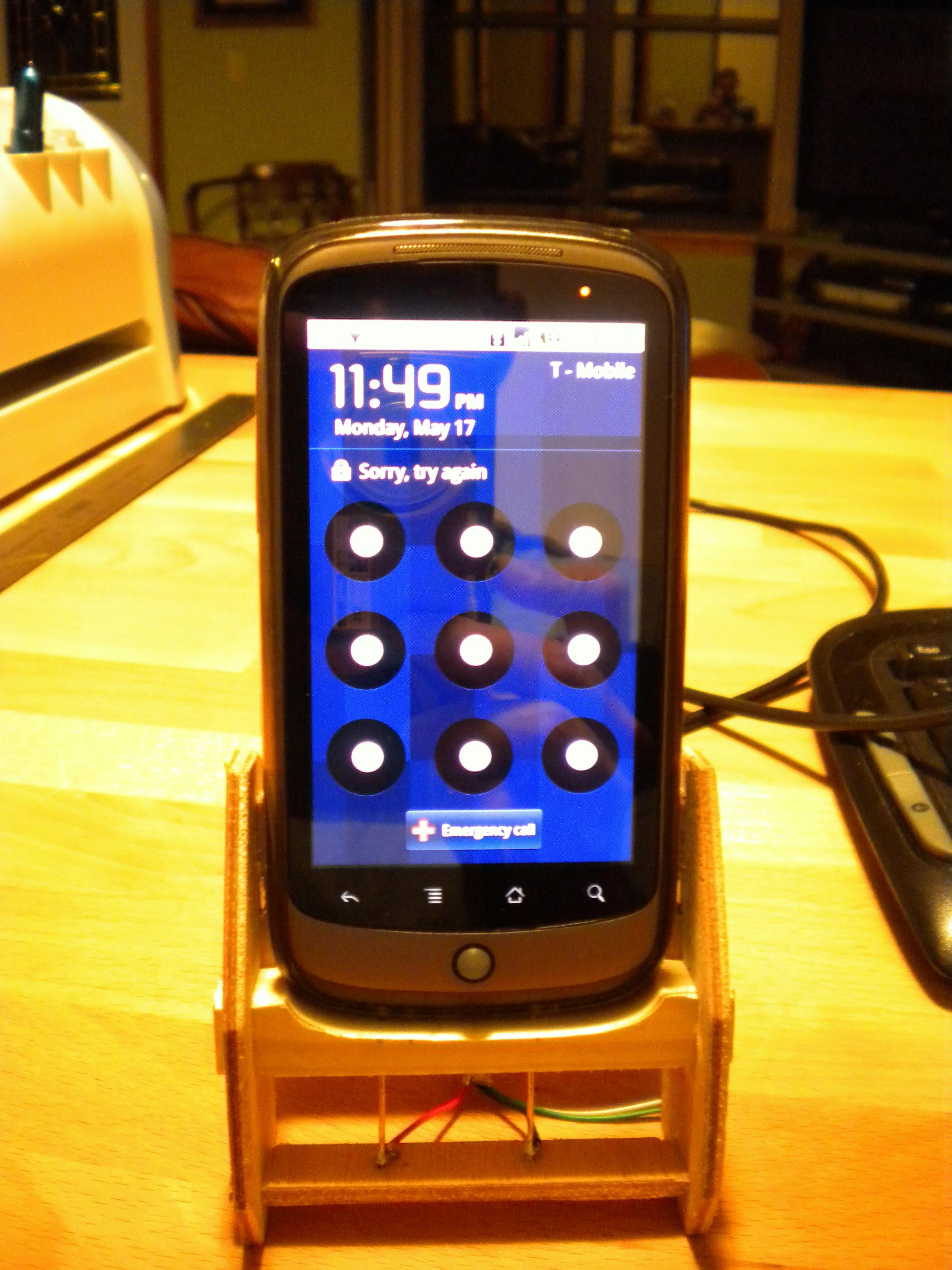 Charging Nexus One Dock