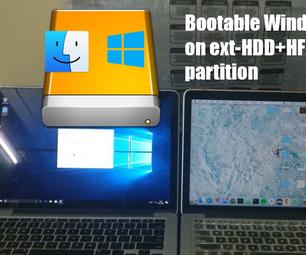 在Mac上安装带有Mac分区的外部驱动器上的Windows