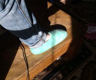 Wet Felted Slippers