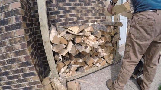 Stage Rack in Place and Add Firewood