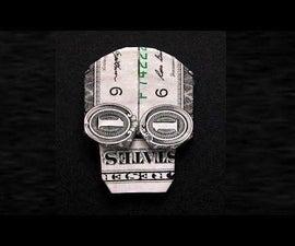 EASY MONEY ORIGAMY SKULL ICON