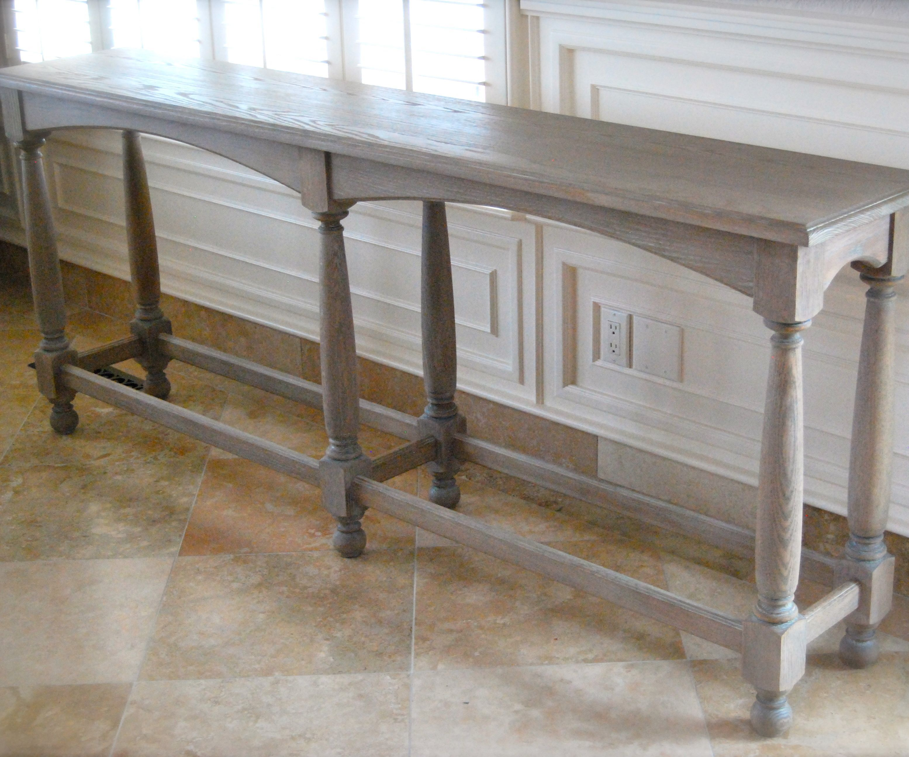 6 legged console table
