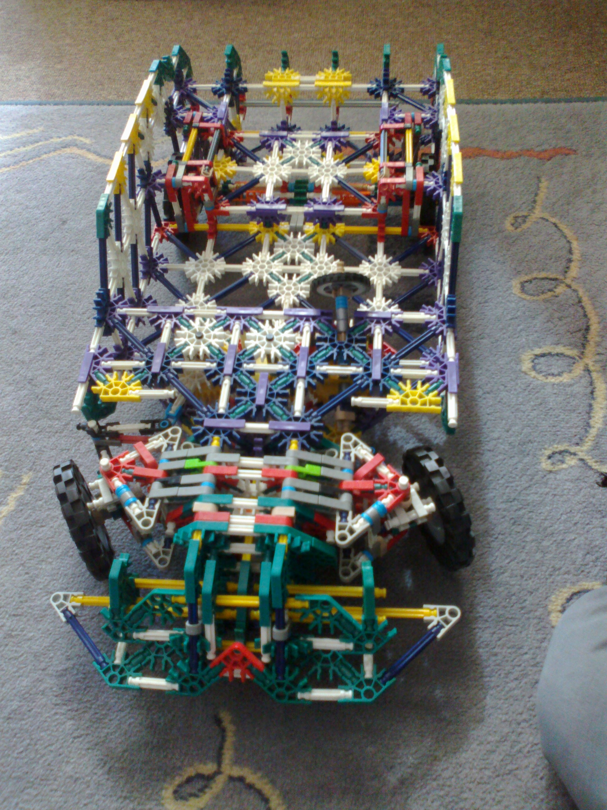 Big knex car with suspension