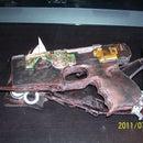my post apocalyptic steam punk hand gun