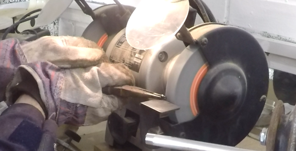 Grind the 'lip' Piece to Provide a Narrow Edge