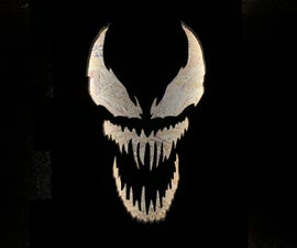 Venom Pallet Wood Light Up Sign