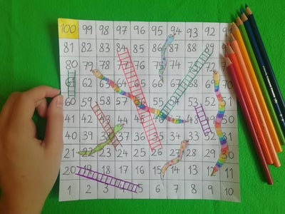 Coloring the Snakes and Ladders