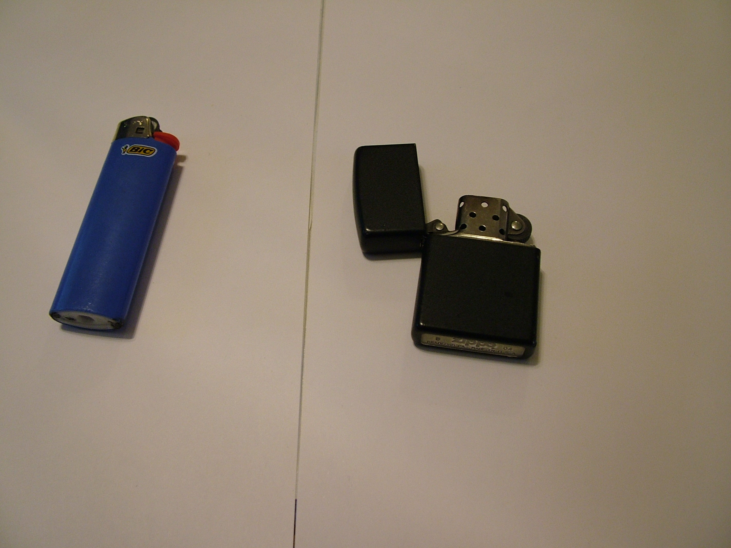 Replace Your Zippo Flint With Flint From A Dead Bic 4 Steps Instructables