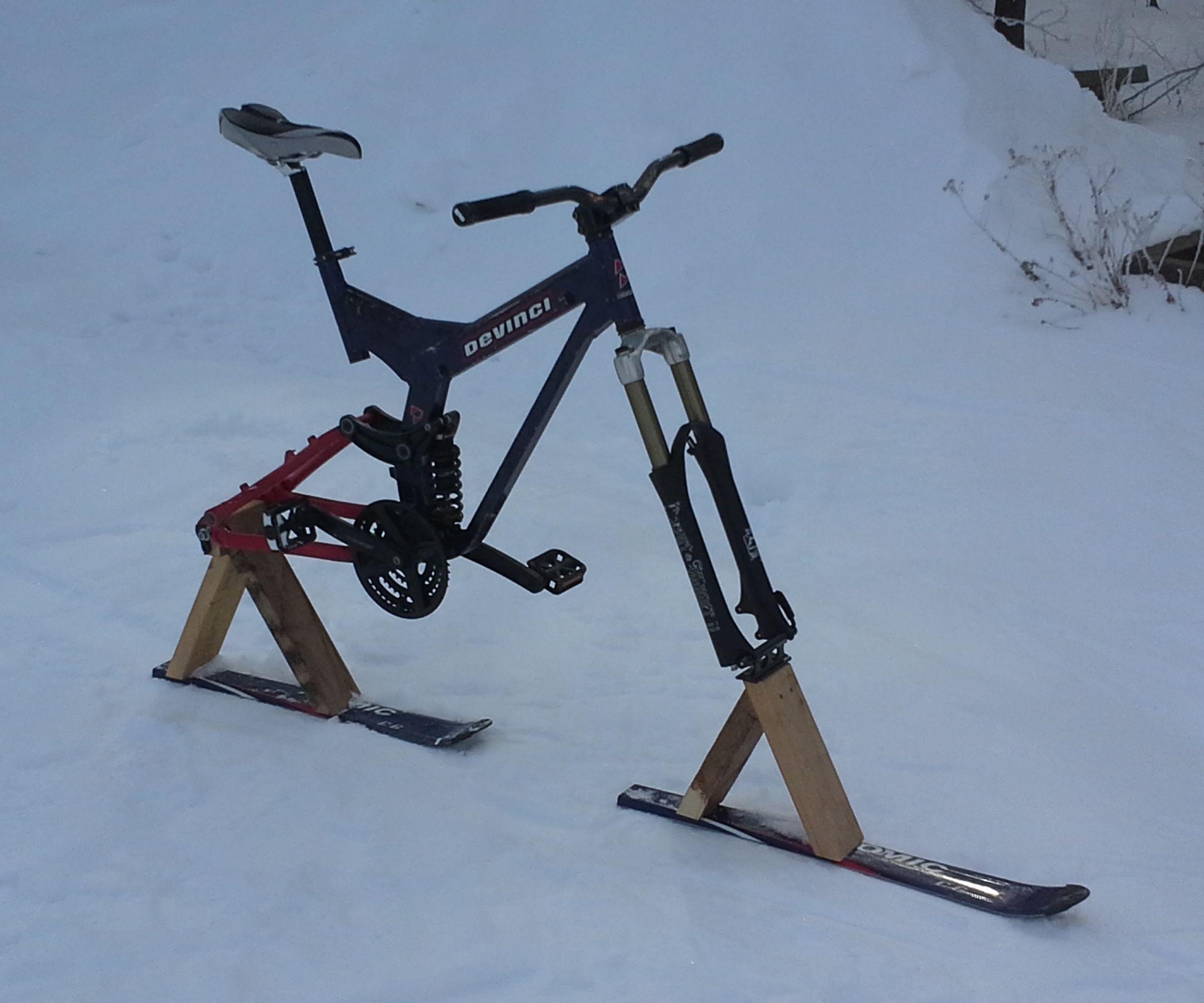 How to Create a Downhill Ski-Bike